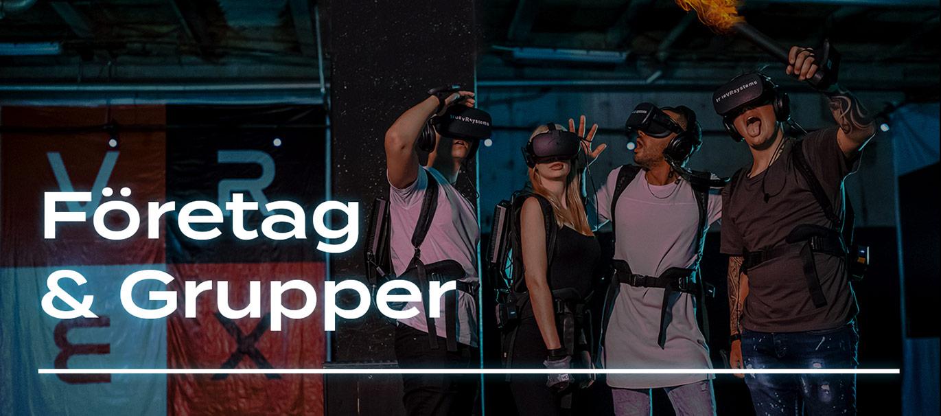 VR-upplevelser, företag, grupper